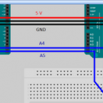 Connecting two Arduinos using I2C interface